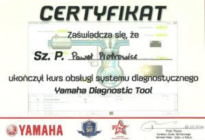 certyfikat-yamaha-diagnostic-tool